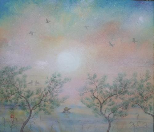 絵画「平和の朝」/朝の風景