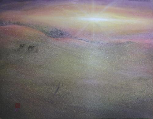 絵画「鳥取砂丘の風景」