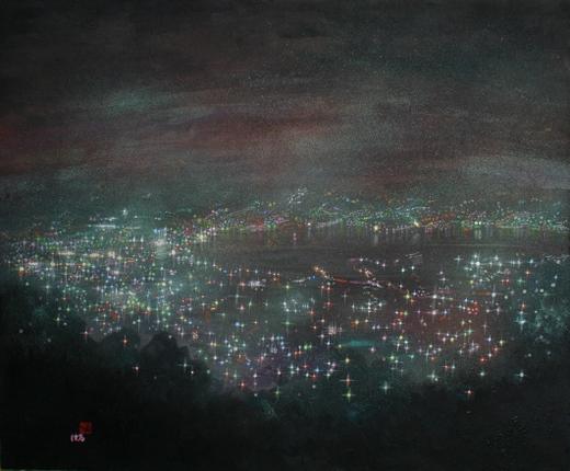 絵画「長崎の夜景(稲佐山)」
