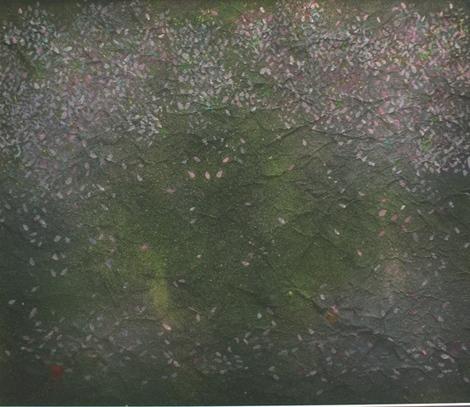 絵画「桜のある風景」