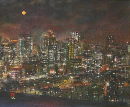 絵画「大阪の夜景」/夜景検定(1級)