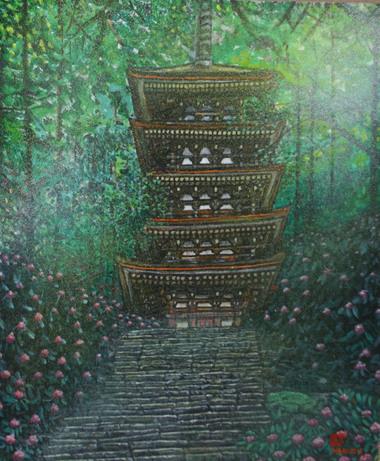 絵画「室生寺」
