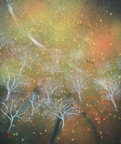 絵画「ある秋の日」/風景