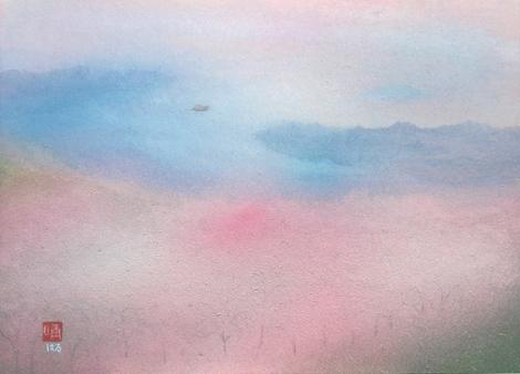 絵画「春の海」/風景