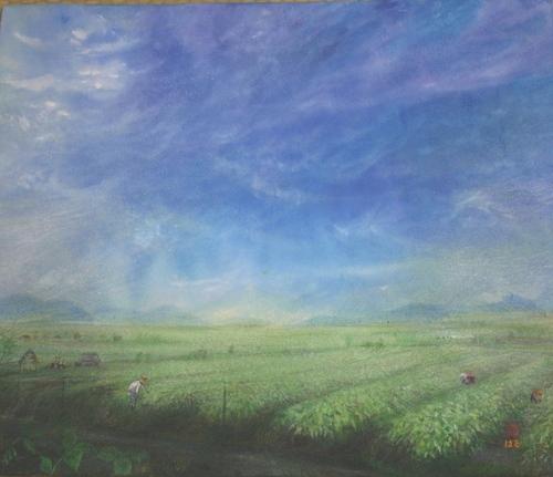 絵画「黒豆畑の絵」
