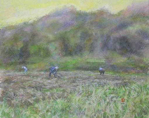 絵画「農村の風景」