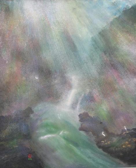 絵画「渓谷の風景」