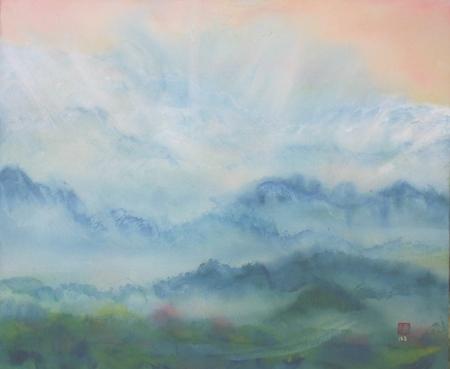 絵画「山の音」/風景