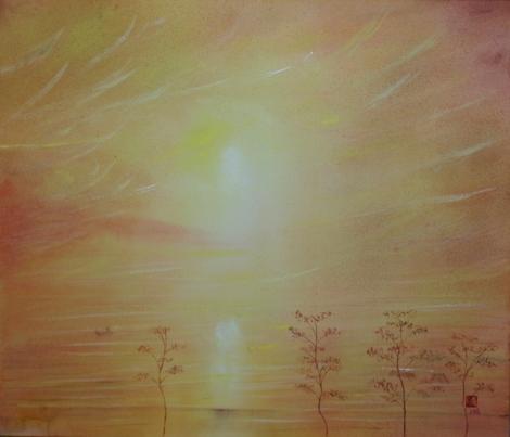 絵画「金色の風」/風景
