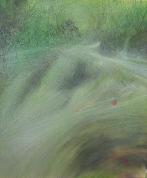 絵画「初夏の渓流」/風景