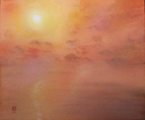絵画「隠岐の風景」