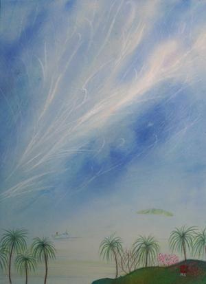 絵画「南国の風」/風景
