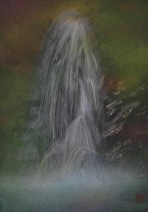 絵画「森林の滝」/風景