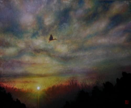 絵画「新たな旅がはじまる」/風景